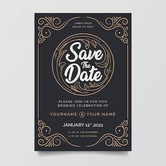 Zaproszenia ślubne z niesamowitymi ramkami dekoracyjnymi