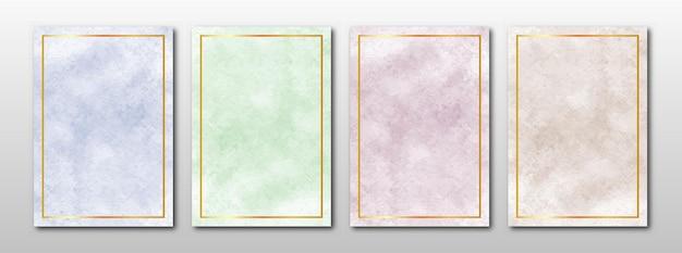 Zaproszenia ślubne zestaw kreatywnych minimalistycznych ręcznie malowanych abstrakcyjnych akwareli