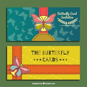 Zaproszenia z cute motyle