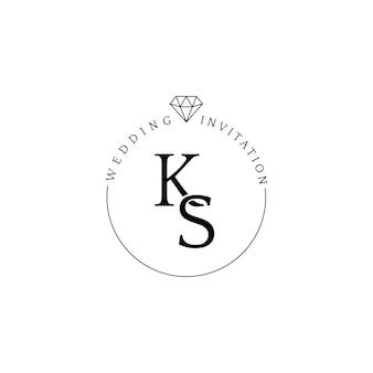 Zaproszenie ślubne odznaka projekt wektor