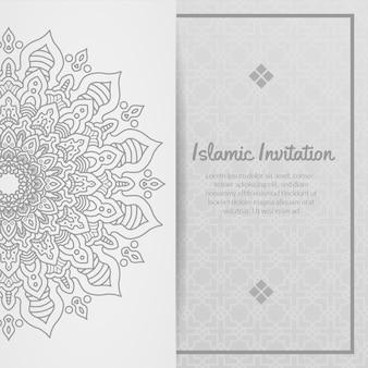 Zaproszenie islamskie, ramadhan kareem, eid al adha, eid al fitri, ozdobne
