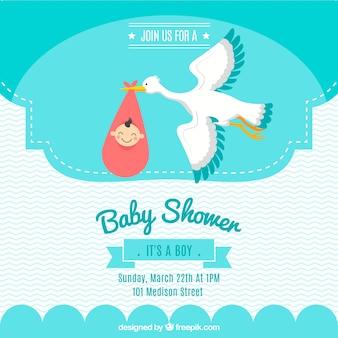Zaproszenie karty baby shower