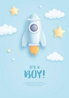 Zaproszenie na baby shower dla chłopca