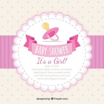 Zaproszenie na baby shower dziewczęcy