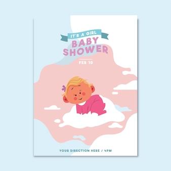 Zaproszenie na baby shower (dziewczynka)