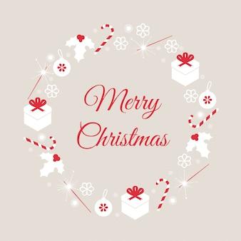 Zaproszenie na dekorację na boże narodzenie i nowy rok