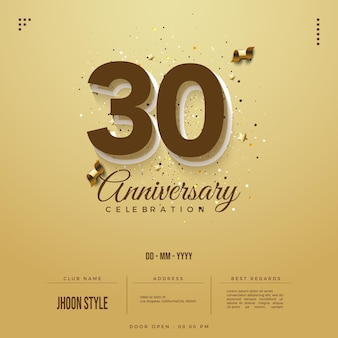 Zaproszenie na obchody 30-lecia z czekoladowymi numerami