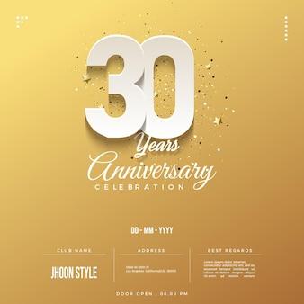 Zaproszenie na obchody 30-lecia z ułożonymi numerami