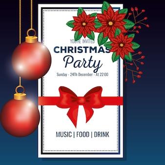 Zaproszenie na przyjęcie bożonarodzeniowe