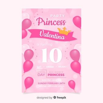 Zaproszenie na przyjęcie księżniczki