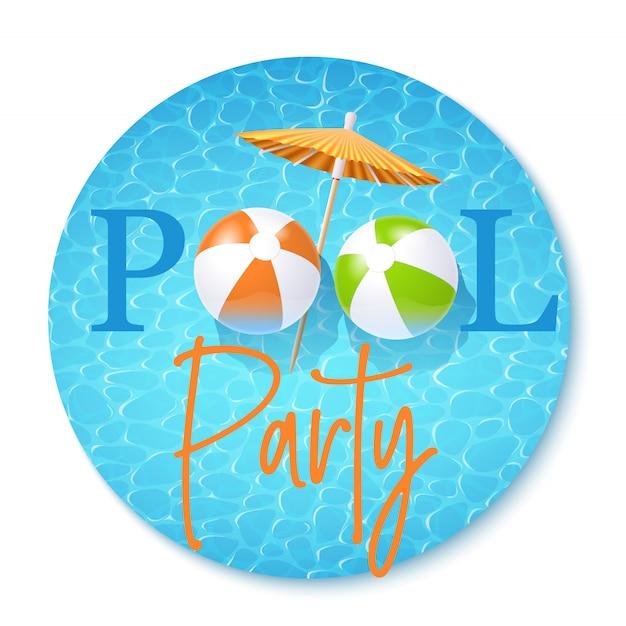 Zaproszenie na przyjęcie przy basenie