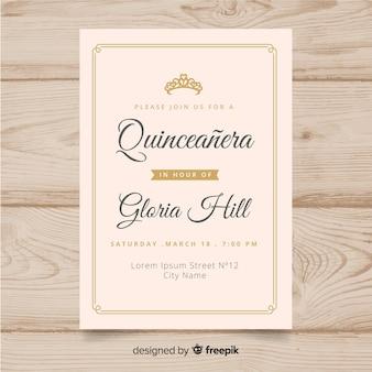 Zaproszenie na przyjęcie quinceañera