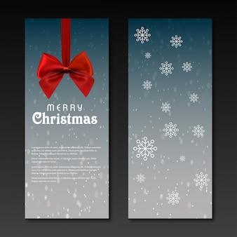 Zaproszenie na przyjęcie świąteczne na ciemnoszarym tle