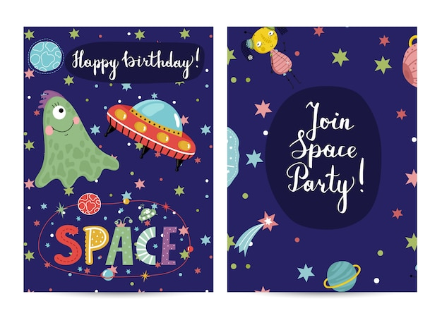 Zaproszenie na przyjęcie urodzinowe w kostiumach dziecięcych