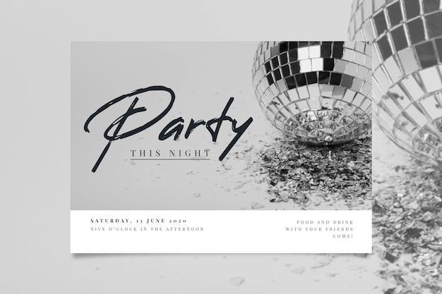 Zaproszenie na przyjęcie z koncepcją zdjęć