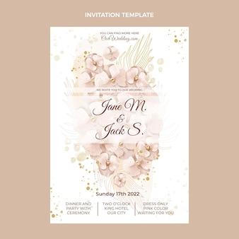 Zaproszenie na ślub akwarela boho
