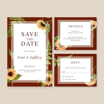Zaproszenie na ślub akwarela z pięknym motywem jesieni
