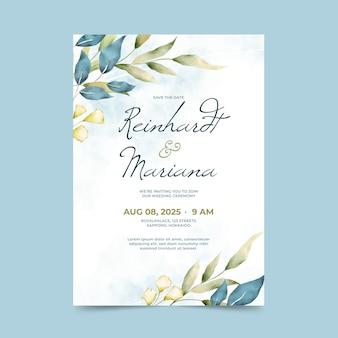 Zaproszenie na ślub akwarela