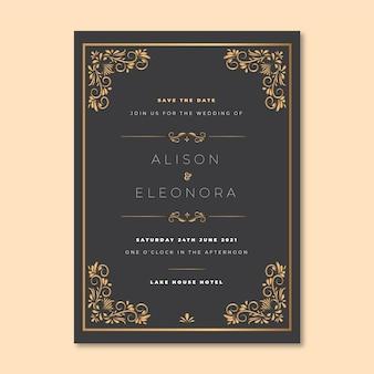 Zaproszenie na ślub elegancki styl