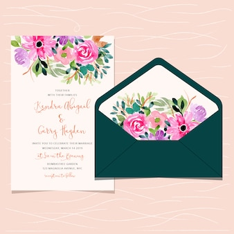 Zaproszenie na ślub i koperty