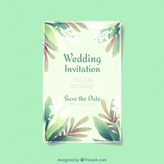 Zaproszenie na ślub kwiatowy akwarela wesele