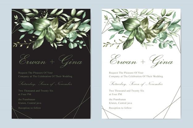 Zaproszenie na ślub kwiatowy szablon karty projektu