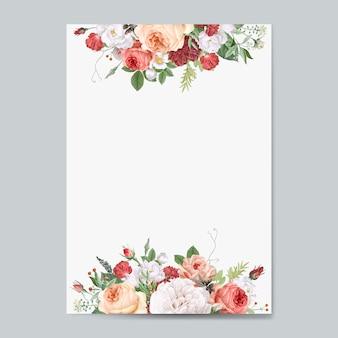 Zaproszenie na ślub kwiatowy wzór zaproszenie