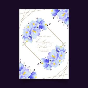 Zaproszenie na ślub kwiatowy z krokusy kwiaty