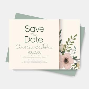 Zaproszenie na ślub kwiatowy.