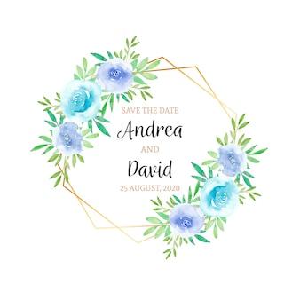 Zaproszenie na ślub kwiaty akwarela