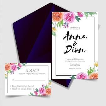 Zaproszenie na ślub ładny