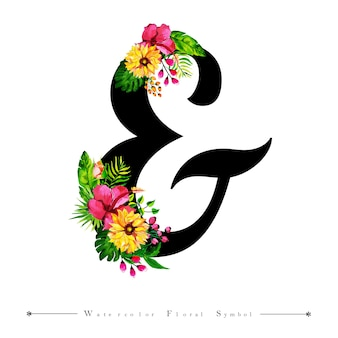 Zaproszenie na ślub list i akwarela kwiatowy tło