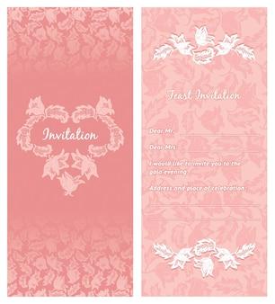 Zaproszenie na ślub, ozdoby-kwiaty