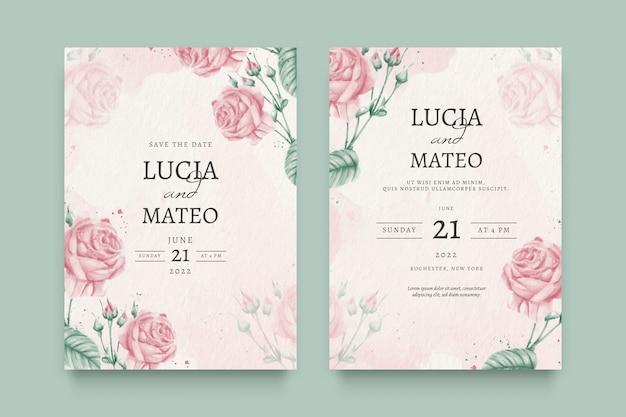 Zaproszenie na ślub piękny kwiatowy