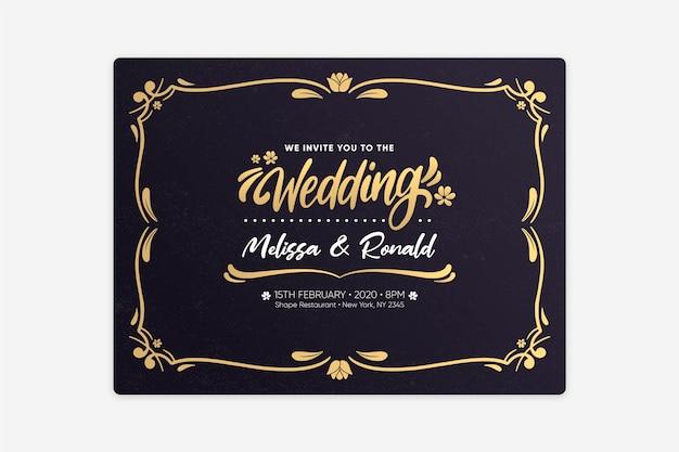 Zaproszenie na ślub retro szablon