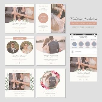 Zaproszenie na ślub social media post