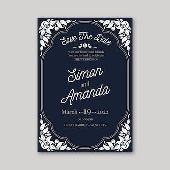 Zaproszenie na ślub szablon retro