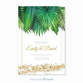 Zaproszenie na ślub tropikalny