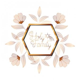 Zaproszenie na ślub w ramce złotej z kwiatami