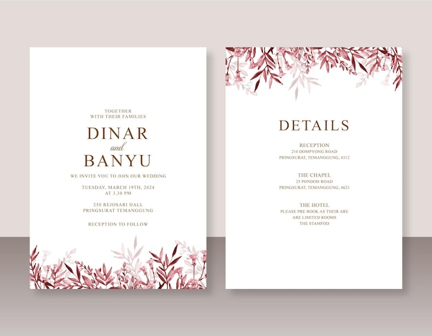 Zaproszenie na ślub z akwarelą