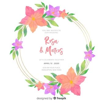 Zaproszenie na ślub z motywem kwiatowym