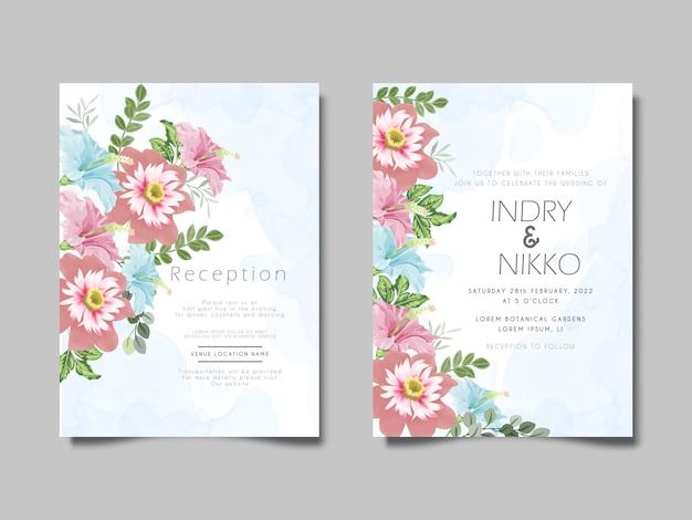 Zaproszenie na ślub z pięknym i artystycznym kwiatem