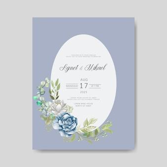 Zaproszenie na ślub z pięknymi kwiatami