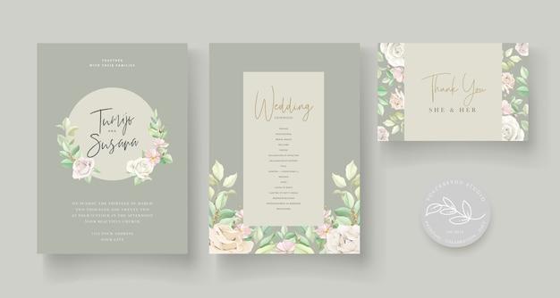 Zaproszenie na ślub z pięknymi różami