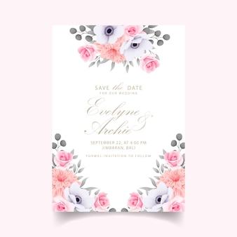 Zaproszenie na ślub z różami
