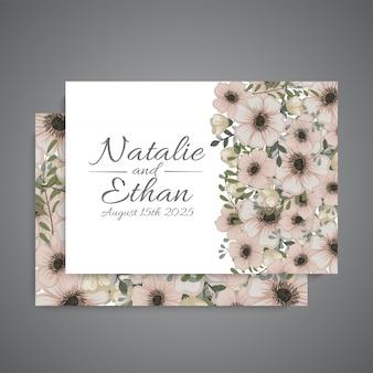 Zaproszenie na ślub z słodkie kwiaty