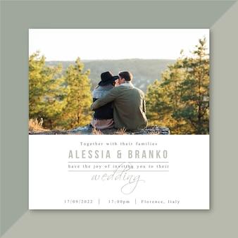 Zaproszenie na ślub ze zdjęciem