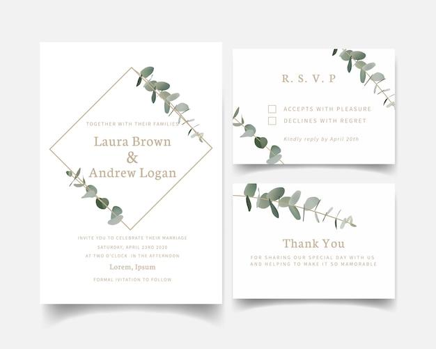 Zaproszenie na ślub zieleni