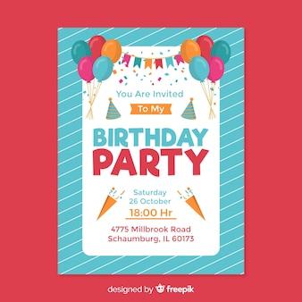 Zaproszenie na urodziny dziecka szablon projektu