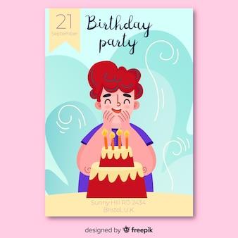 Zaproszenie na urodziny piękne dzieci